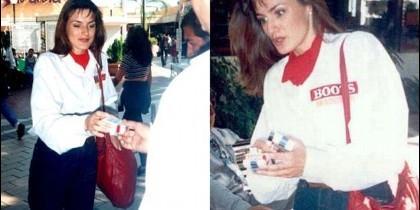 Letizia Ortiz, en su etapa mexicana vendiendo cigarros.
