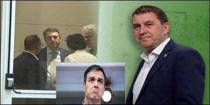 El etarra Otegi y otros sociaos de Pedro Sánchez (PSOE).