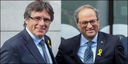 Carles Puigdemont y Quim Torra.