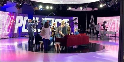 Así es uno de los estudios de TV del Europarlamento.