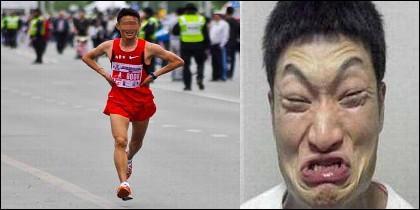 El corredor chino y el cagón.