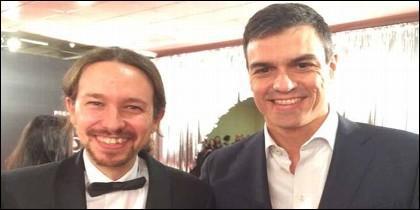 Pablo Iglesias y Pedro Sanchez.