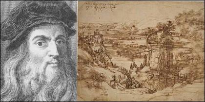 'Paesaggio', el primer trabajo fechado (5 de agosto de 1473) de Da Vinci.