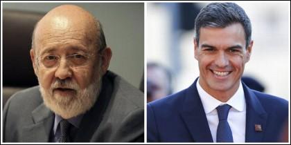 José Félix Tezanos y Pedro Sánchez