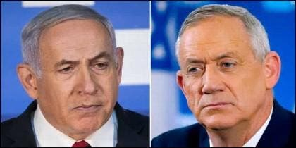 Benjamín Netanyahu y Benny Gantz.