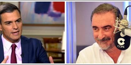Pedro Sánchez y Carlos Herrera