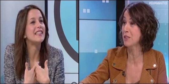 Inés Arrimadas se planta en TV3 con un par y machaca a la presentadora estrella de los `indepes`