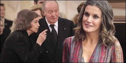 La Reina Sofía, el Rey Juan Carlos y la Reina Sofía.