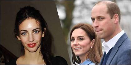 Rose Hanbury, Kate Middleton y el Príncipe Guillermo.