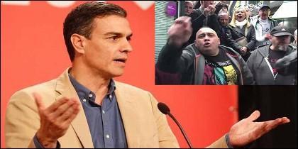 Pedro Sánchez y los fascistas abertzales de Rentería.