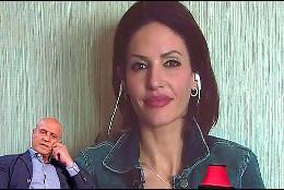 Cristina Pujol en el videowall y Matamoros en plató (Telecinco)