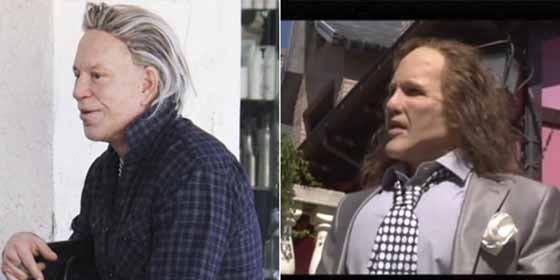 ¡Espanto!: Los memes tras el nuevo rostro de Mickey Rourke ...