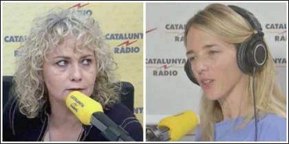 Mónica Terribas y Cayetana Álvarez de Toledo.