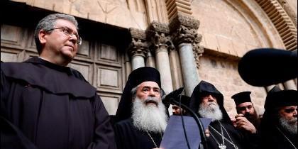 Líderes cristianos en Jerusalén.