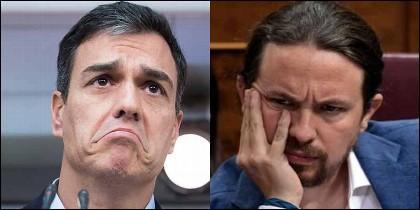 Pedro Sánchez (PSOE) y Pablo Iglesias (PODEMOS).