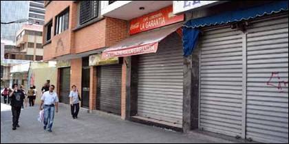 El cierre de comercios en Venezuela