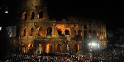 Impresionante estampa del Coliseo.