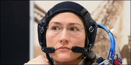 La astronauta estadounidense Christina Koch en la Estación Espacial Internacional (ISS).