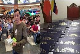 Entrega de decenas de pasaportes venezolanos a nacionales de China