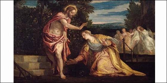 Cristo se aparece a María Magdalena en la pintura de Paolo Veronese (1528-1588).