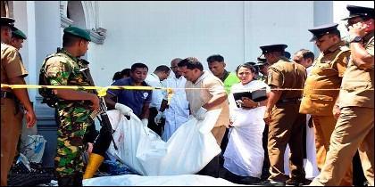 Víctimas de los ataques terroristas perpetrados en Sri Lanka.