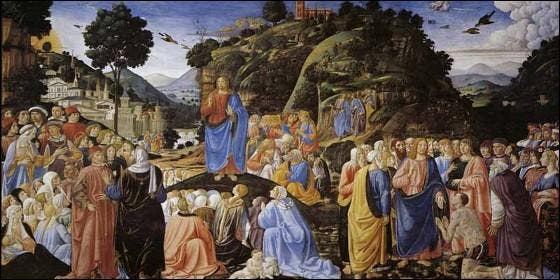Cosimo Roselli: 'Sermón de la montaña'.