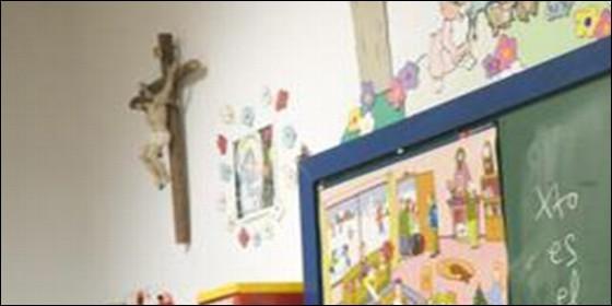 Crucifijo en clase