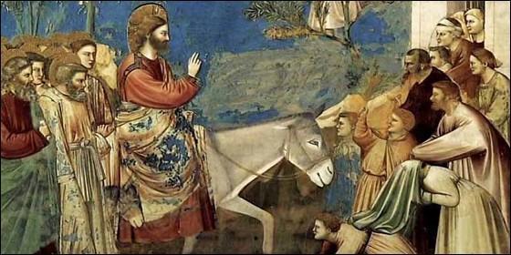 Jesús de Nazareth entra en Jerusalén.