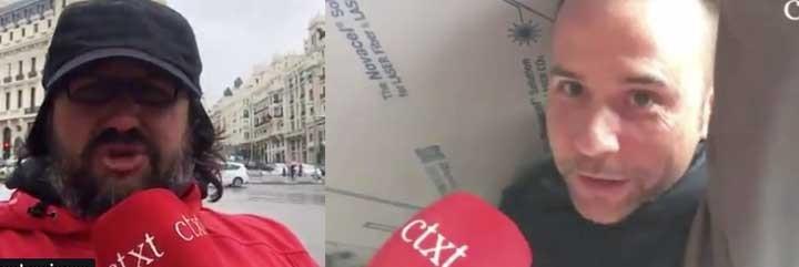 Willy Veleta, reportero de CTXT y el obrero fan de Abascal.