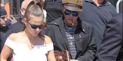 Polina Glen y Johnny Depp