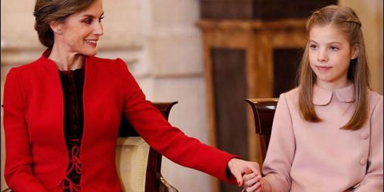 La Reina Letizia y su hija, la Infanta Sofía.