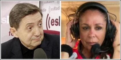 Federico Jiménez Losantos e Isabel Pantoja.
