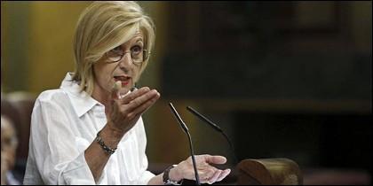 Rosa Díez apunta y dispara en el Congreso.