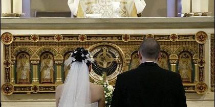 Una boda católica.