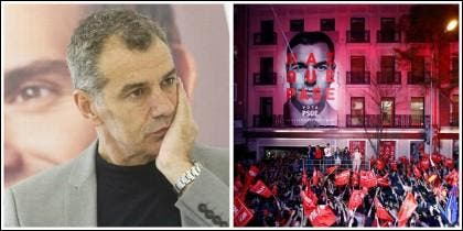 Toni Cantó y la sede el PSOE