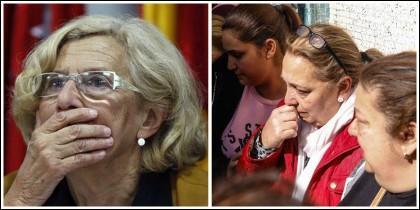 Manuela Carmena y las familias desahuciadas