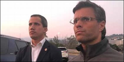 Venezuela: Los líderes opositores Juan Guaidó y Leopoldo López.