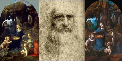 Leonardo da Vinci y las dos versiones de 'La Virgen de las Rocas', la del Louvre y la de la National Gallery de Londres.
