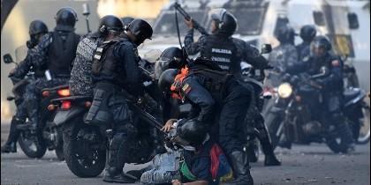 Represión en Venezuela.