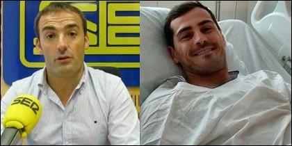Pedro Morata e Iker Casillas.