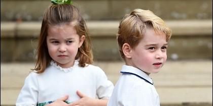 El Principe George y la Princesa Charlotte