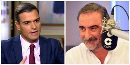 Pedro Sánchez y Carlos Herrera.