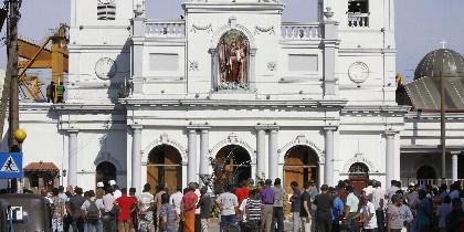 Uno de los templos afectados por la ola de atentados en Sri Lanka.