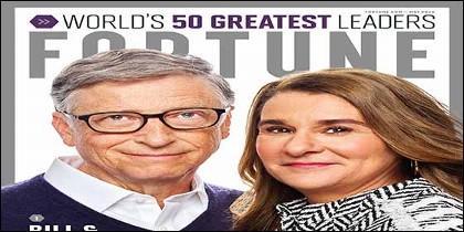 Bill y Melinda Gates encabezan el listado de 50 líderes más importantes del mundo según la revista Fortune.