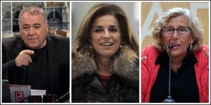 Antonio García Ferreras, Ana Botella y Manuela Carmena.