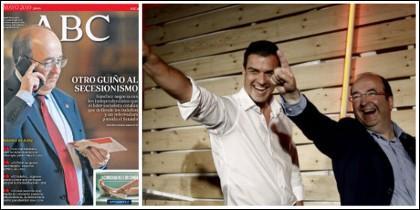 La portada que retrata a Iceta y al líder catalán de bailoteo con Sánchez.