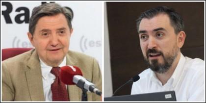 Federico Jiménez Losantos e Ignacio Escolar.