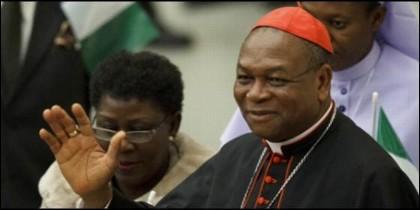 El cardenal Onaiyekan, arzobispo de Abuja.