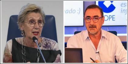 Rosa Díez y Carlos Herrera.