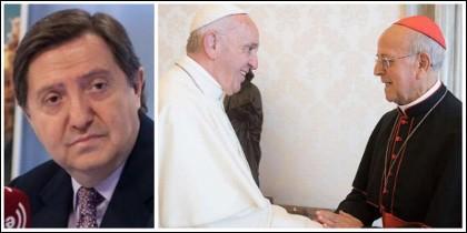 Federico Jiménez Losantos poniendo a caldo al Papa Francisco y a Ricardo Blázquez.